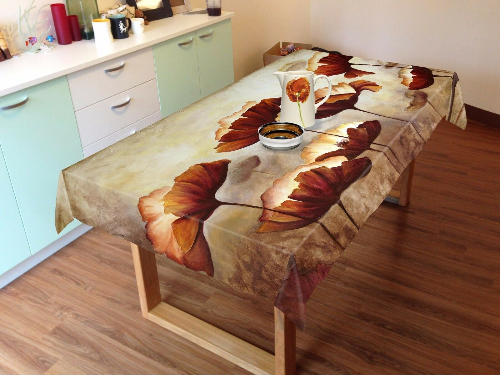 3D Leaves 888 Tablecloth Table Cover Cloth Birthday Party Event AJ WALLPAPER UK