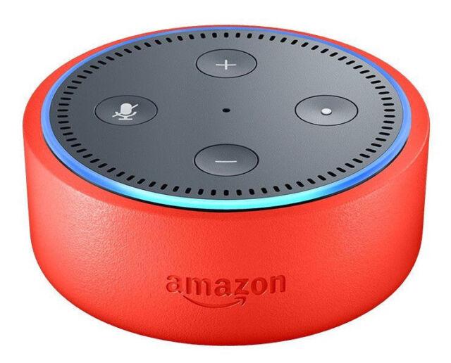 Amazon Echo Dot Kids Edition Smart Assistant, Black - Punch Red Case