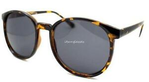 Frame tall round circle sunglasses drak lens vtg style retro women