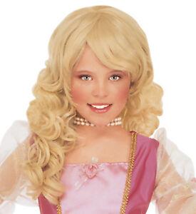 9ea7cd14feeebc Girls Princess Costume Wig Long Blonde Fancy Dress Hair Deluxe NEW ...