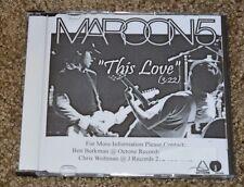 Ultra Rare Maroon 5 This Love Radio Promo CD Single