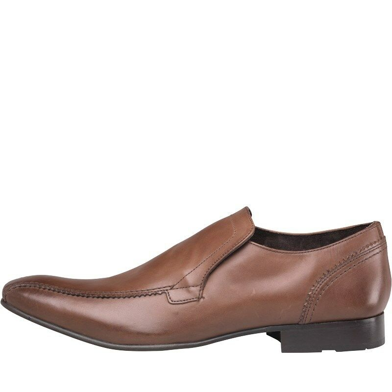 BASE LONDON MENS DUDE SLIP zapatos - WAXY marrón  – Talla 6 – BNIB