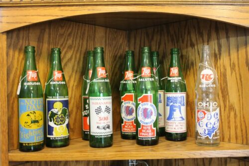 7-Up and RC Salutes and Commemorative Bottles ISU//Ohio St//Notre Dame ... EMPTY