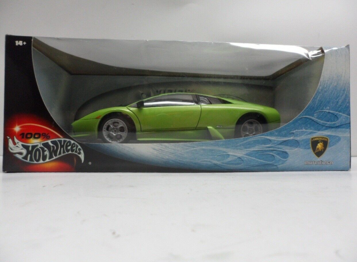 1 18 Hot Wheels Green Lamborghini Murcielago NIB