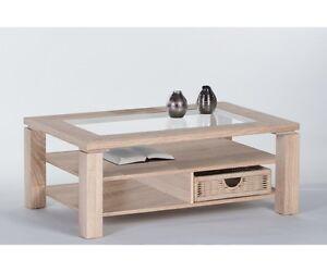 Lazy Couchtisch Beistelltisch Tisch Eiche Sonoma Mit Glaseinlage Ca