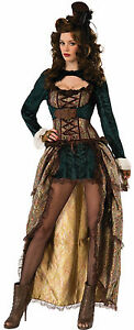 Madame Steampunk Costume Cosplay Industrial Victorian Adult Size Standard