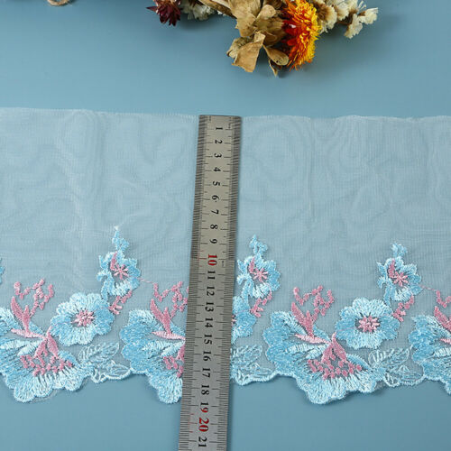 1Yards Embroidery Lace Trim Fabric Guipure Mesh Ribbon Dress Clothing Sewing DIY