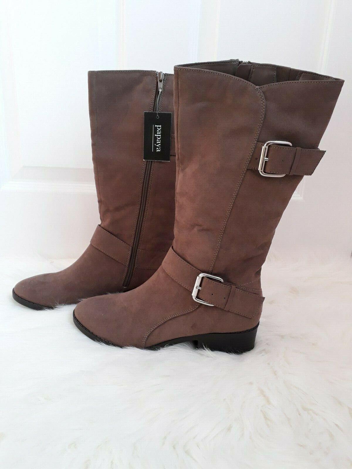 Matalan Papaya Taupe Buckle Calf Boots Size 5