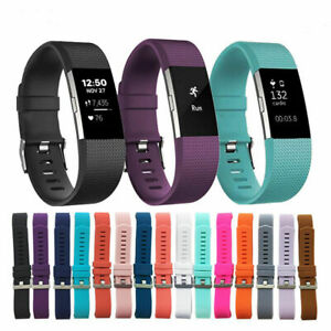 For Fitbit Charge 2 HR Replacement Band Silicone Bracelet Wrist Watch Strap