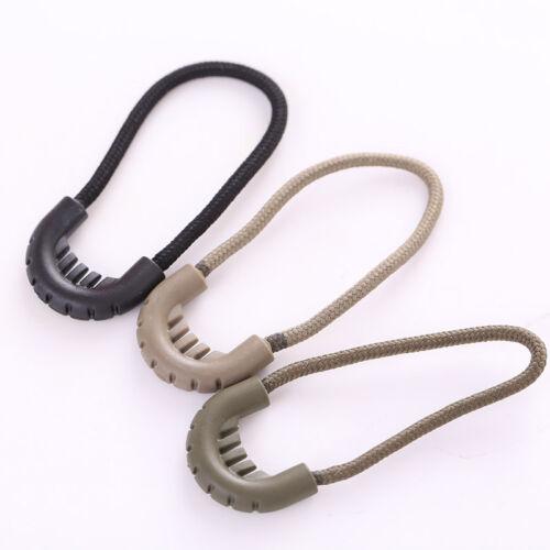 10pcs EDC Hiking Anti-theft Zipper Tail Rope Backpack Longer Zipper Rope