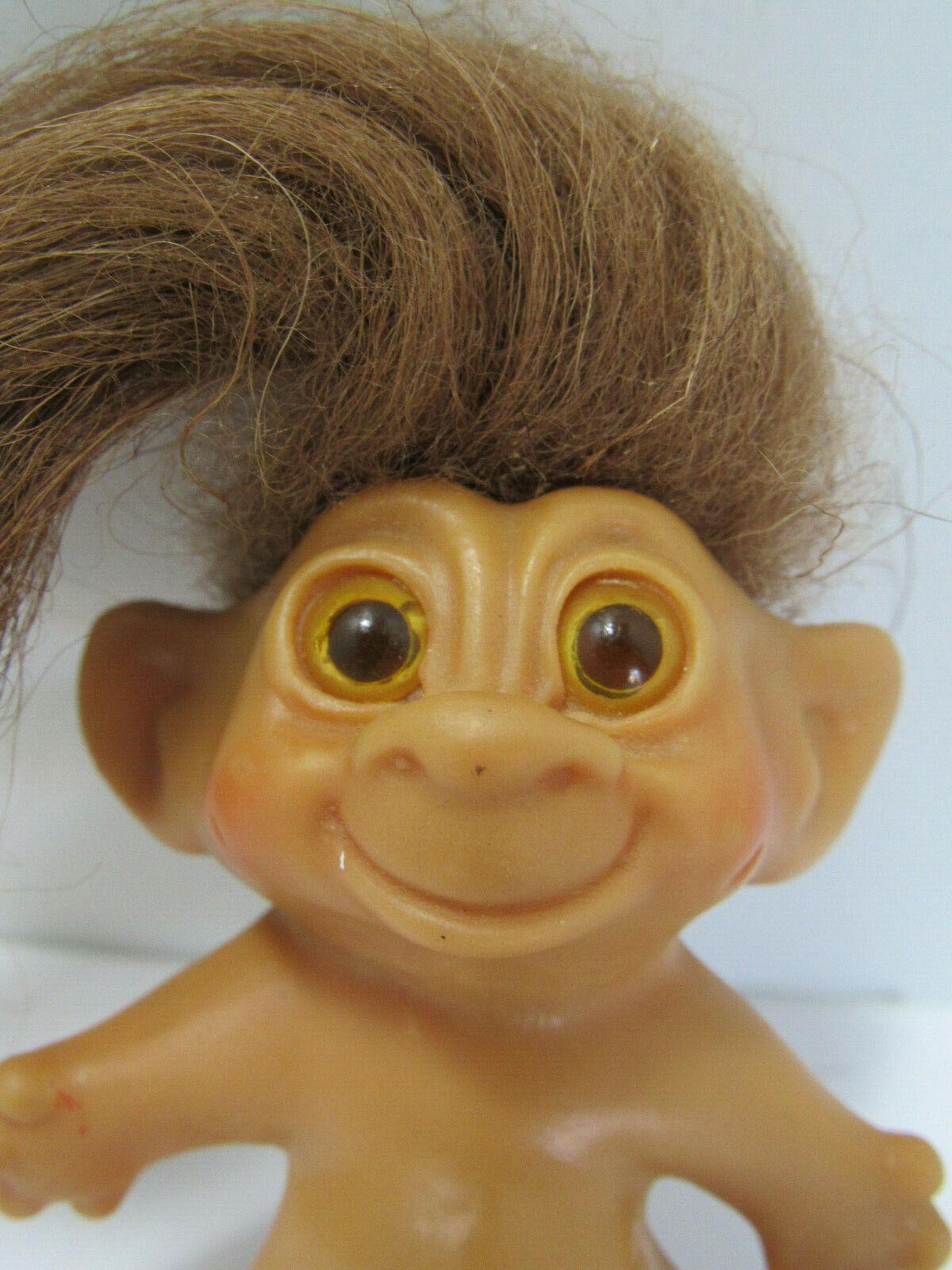 Tab Troll Doll Original Gelb Eyes  60s Jahr  Tabby Rare