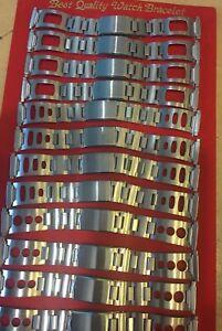 Retired-Jewellers-Old-Stock-Vintage-Retro-1960s-Sports-Steel-Watch-Bracelets