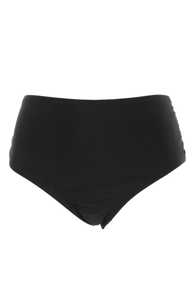24th Océan Noir Attache Latéral Bikini Taille Basse Bas L