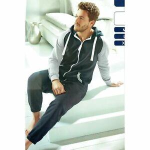 Herren-Jumpsuit-Overall-Einteiler-Onesies-Hausanzug-Jogging-Sportanzug-Nightwear