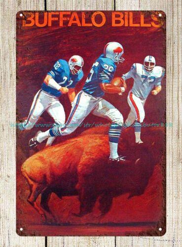 Buffalo Bills 1969 vintage poster football metal tin sign office bar home decor