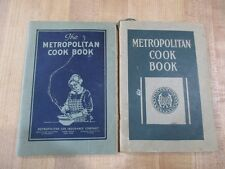 2 Vintage Metropolitan Life Insurance Cookbooks 1922 and 1925  >