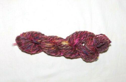 Crochet Knit Weave Fuchsia Tweed Wool Blend Worsted Weight Hand Spun Yarn