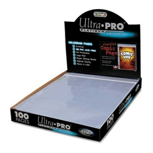 10 Pages Ultra Pro Platinum Flexible Comic Book Resealable Binder Pages
