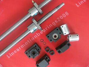 2-Lead-screws-ballscrews-RM2505-473-727mm-2-BK15-BF15-bearing-mounts-Couplings