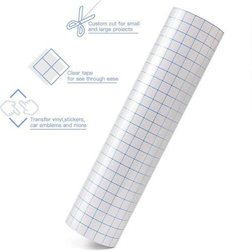 Clear Adhesive Vinyl Transfer Paper Tape Roll for Decals Signs Windows Stickers