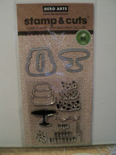 HERO ARTS STAMP & CUTS BIRTHDAY CLEAR STAMPS WITH MATCHING DIE-CUTS *LOOK*