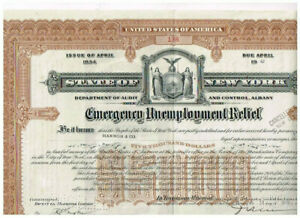 State of New York, 1940, $ 5000, Dept. of Audit and Control, Albany, seltener