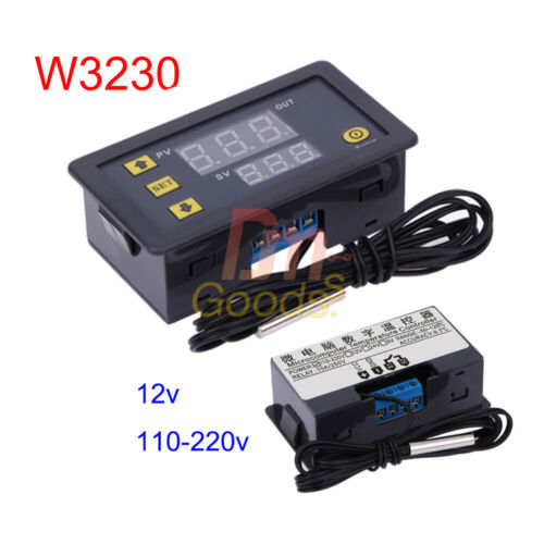 AC110-220V//12V W3230 LCD Thermostat Temperature Controller Meter Regulator