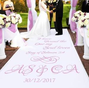 Personalised-WEDDING-AISLE-RUNNER-Church-Wedding-Carpet-Decoration-15ft-30ft