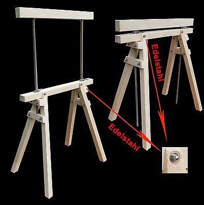 2 Stück,holzböcke, Baugerüst, Arbeitsbock, Stützbock, , Zimmererbock, Holzbock