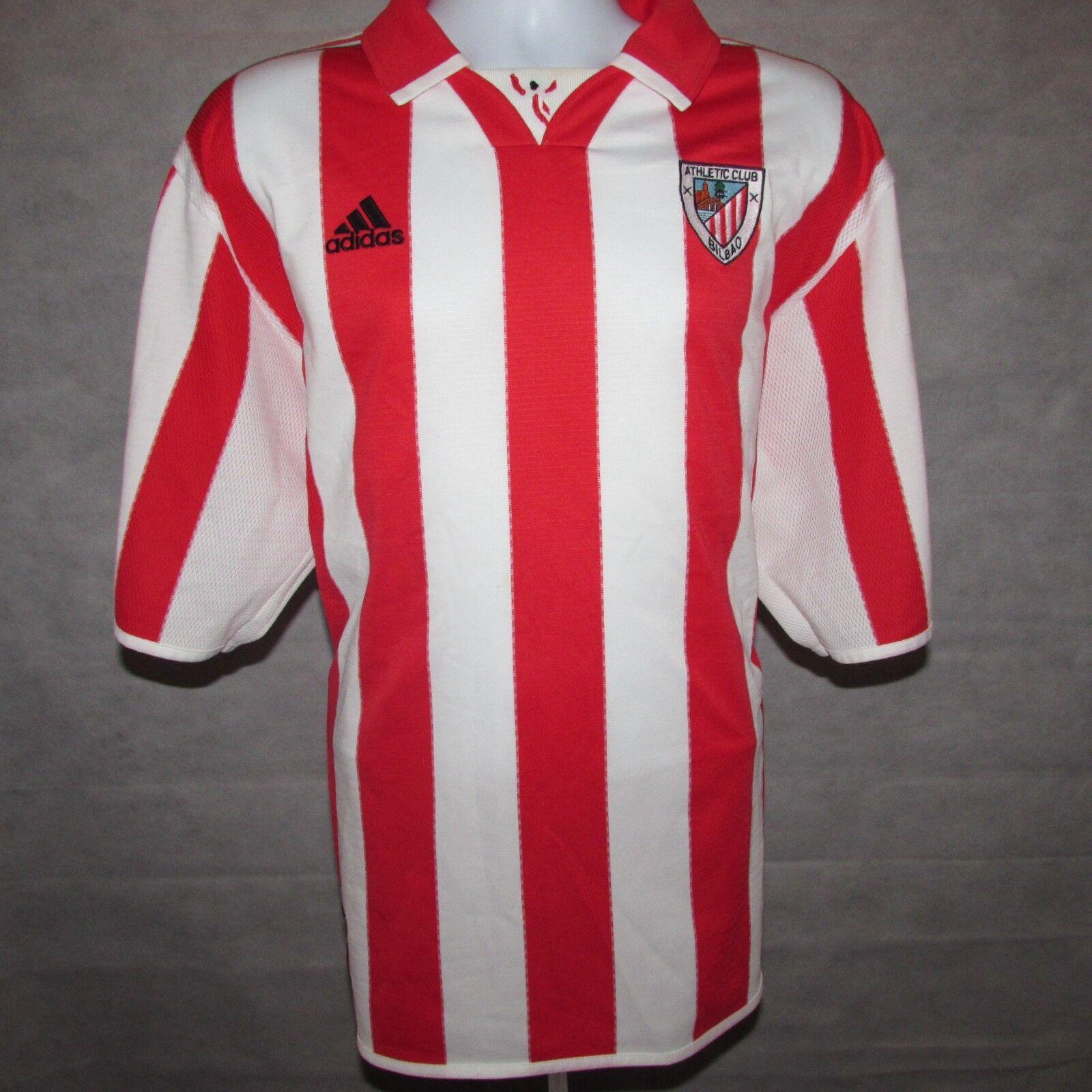 1999-2001 Athletic Bilbao Home Football Shirt, Adidas, XL (Excellent)