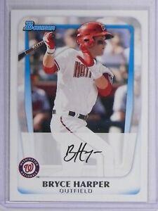 2011-Bowman-BRYCE-HARPER-1-Draft-Pick-Rookie-RC-Philadelphia-Phillies-HOT