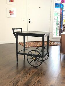 Vintage Bar Cart >> Details About Mid Century Vintage Bar Cart