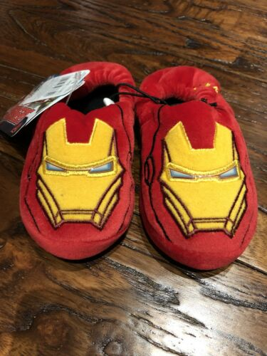 Mothercare Official Marvel Avengers Iron Man Slippers Size 8jnr Kids Shoes BNWT