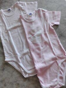 Set 3 body neonato PASTELLO Cotone Manica Lunga Taglie da 0 a 36 mesi