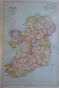 1919-MAP-IRELAND-CONNAUGHT-TIPPERARY-WATERFORD-LINSTER-KINGS-COUNTRY-CORK-DUBLIN