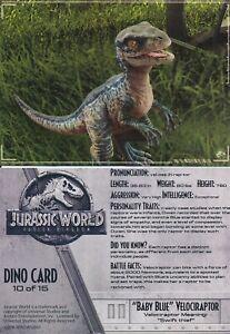 2018 Jurassic World Authentic 10 Sealed Dog Tag//Sticker Packs