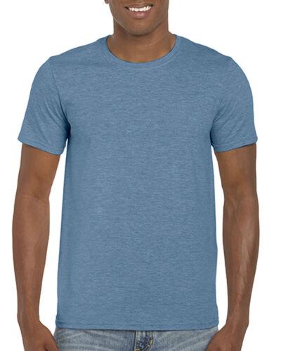 Gildan Softstyle ® Adulte T-shirt à encolure ras-du-cou 64000MP 5 /& 10 Pack