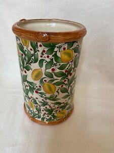 Pacific Rim Pottery Lemon Berry Ceramic Vase Tuscany/Farmhouse Cottagecore