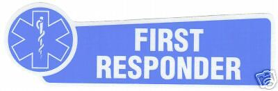 FIRST RESPONDER  STAR OF LIFE Highly Reflective DECAL E.M.S