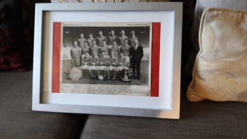 Rare Manchester United m PhotoPrint  196465 Champions  Signed & Framed