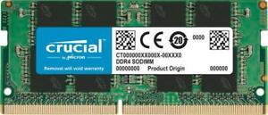 Crucial 16GB Single DDR4 2400 MT/s PC4-19200 DR x8 SODIMM 260-Pin CT16G4SFD824A