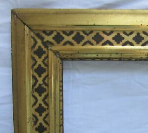 ANTIQUE-Fits-13-5-034-X-17-034-LEMON-GOLD-GILT-STENCILED-FRAME-FINE-ART-VICTORIAN