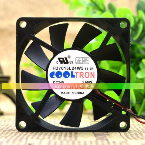 1PC COOLTRON 7CM 7015 24V 3.60W FD7015L24W5-81-2R 2-wire inverter cooling fan