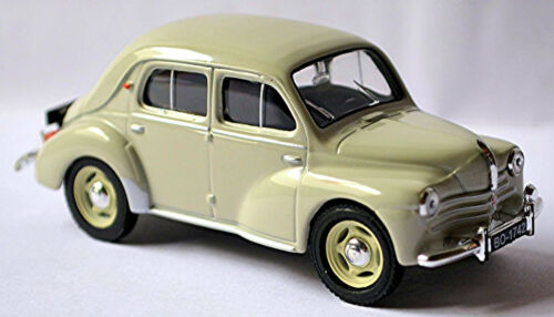 Renault 4 CV Limousine Cremeschnittchen 1946-61 hellgrau light-grey 1:43