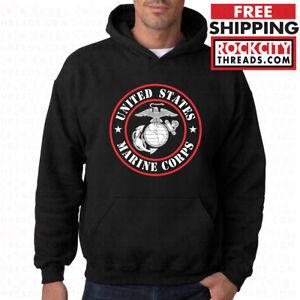 USMC Hoodie Pullover Marine Corps Sweatshirt