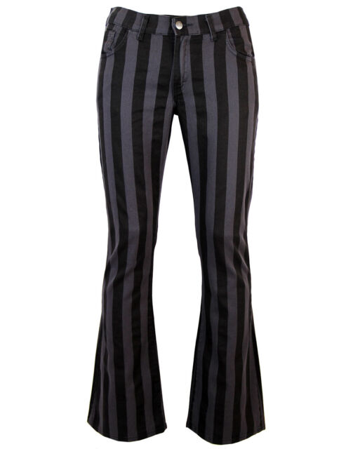 NEW Sixties Mod 60s Striped/Stripe FLARES TROUSERS Beatles Harrison MC105