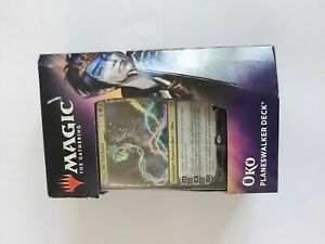 Magic-The-Gathering-Throne-Of-Eldraine-Oko-Planeswalker-Deck-two-boosters