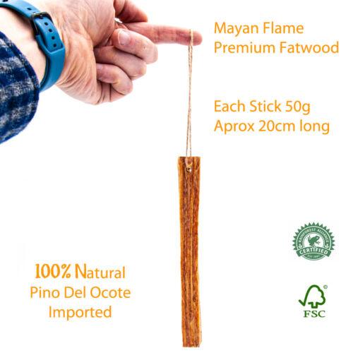 Fatwood 100/% Natural Fire Starter BBQ Starter S4U® Mayan Flame™