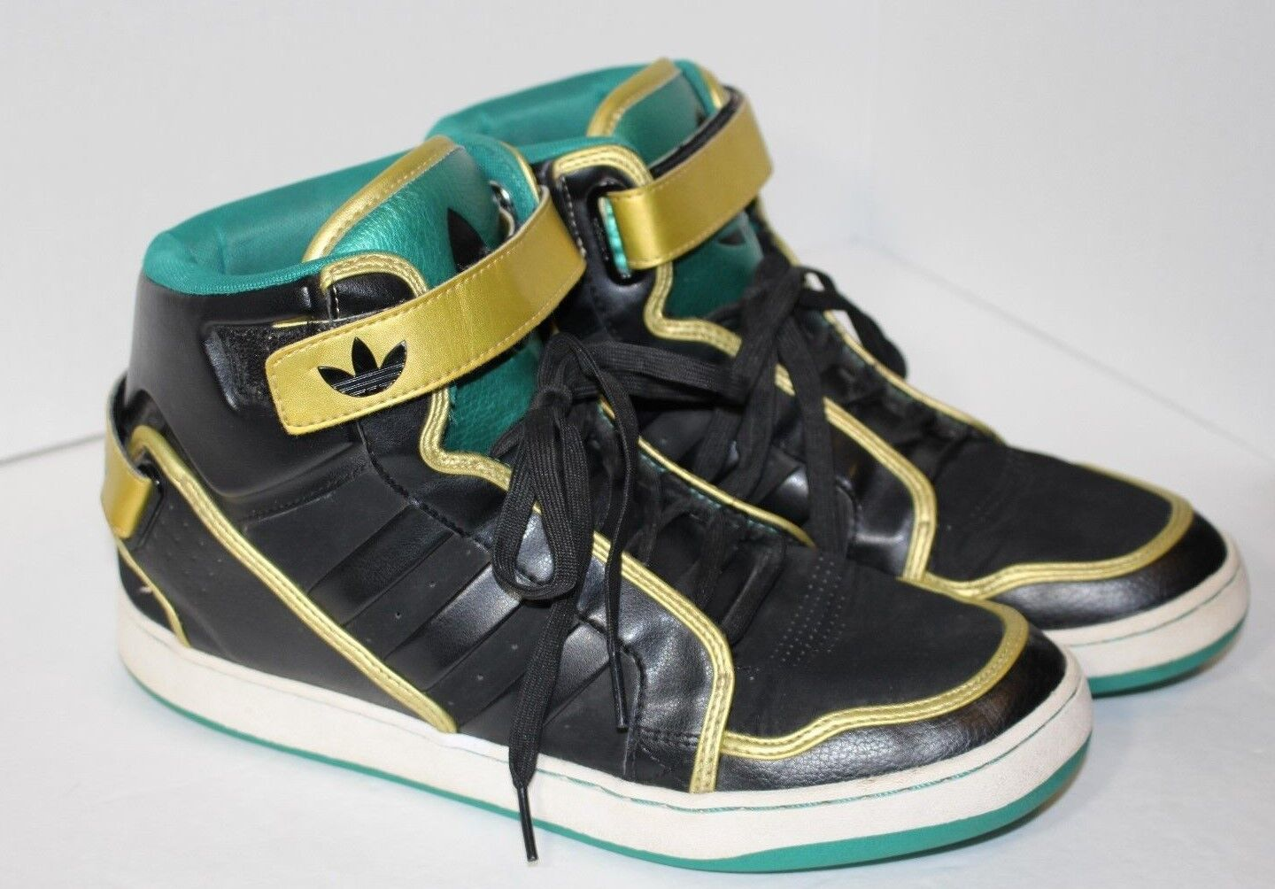 ADIDAS BLACK GREEN GOLD MARDI GRAS SPECIAL EDITION SHOES MENS Price reduction