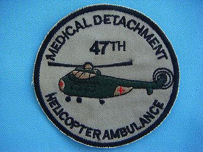 VIETNAM WAR PATCH, US 47th MEDICAL DETACHMENT. HELICOPTER AMBULANCE